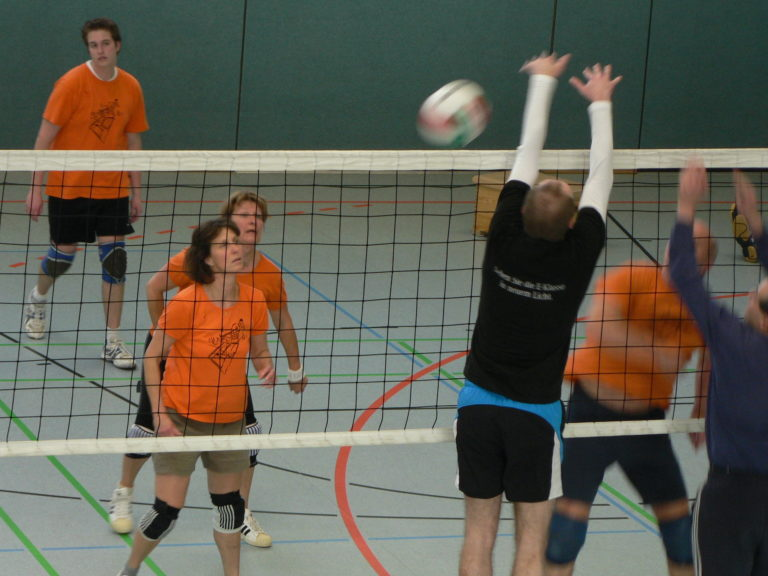 Volleyball in Aktion